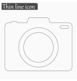 Camera icon Style thin line vector image