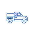 car pickup line icon concept car pickup flat vector image