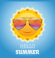 cheerful smiling sun in sunglasses vector image