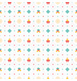 christmas seamless pattern with candle and bell vector image vector image