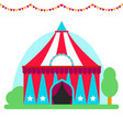 circus show entertainment tent marquee outdoor vector image