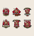 collection of colorful emblems logos stickers vector image vector image