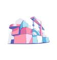 colourful big building blocks vector image vector image