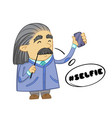 cute scientist cartoon design of funny scientist vector image vector image