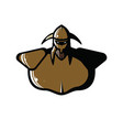 drawing of the viking armor vector image vector image