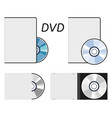 dvd or cd disc icons vector image vector image