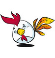easter egg character hand drawn in classic vector image vector image