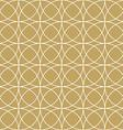 elegant gold circle pattern vector image vector image
