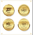 golden retro sale badges and labels collection 2 vector image vector image