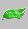 green sticker organic food vector image vector image