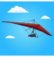 Hang glider pop art style vector image vector image