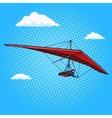 Hang glider pop art style vector image