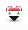 Heart-shaped icon with national flag of Syria vector image