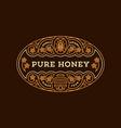 honey label vector image