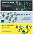 house plants and home garden flowers indoor vector image vector image