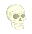 Human skull icon in cartoon style vector image