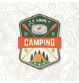 i love camping camping quote patch or sticker vector image