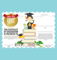 Kids Diploma Certificate Background Design Templat vector image vector image