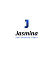 letter J logo Template for your company vector image vector image