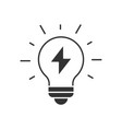 light bulb with thunder vector image vector image