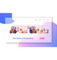 logistics and merchandising website landing page vector image vector image