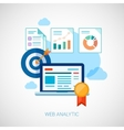 Marketing and sales analytics tasks flat icons vector image