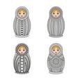 matrioshka or nesting dolls set isolated on white vector image vector image