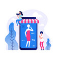 mobile store app online vector image vector image