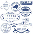 Morris county New Jersey stamsp and seals vector image vector image