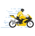 Motorcyclist on motorbike vector image vector image