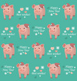 new year 2019 seamless pattern with pig vector image vector image