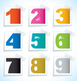 Number paper tags vector image vector image