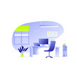office interior workplace flat vector image