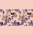 original trendy seamless artistic flower pattern vector image vector image