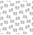 pattern funny kids skiing vector image vector image