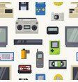 retro technology vintage computer tech and vector image vector image