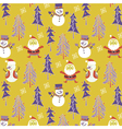 santa winter wallpaper vector image vector image