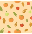 Seamless background with pumpkins and leaves vector image vector image