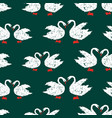 seamless pattern of white swans vector image vector image
