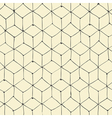 seamless repeating cubes handdrawn pattern vector image vector image