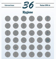 set line icons of hygiene vector image vector image