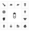 set of 13 editable kin icons includes symbols vector image vector image
