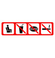 set of prohibiting icons vector image