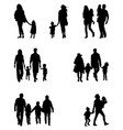 silhouettes families vector image vector image
