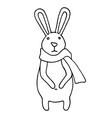 Small cute cartoon bunny vector image vector image