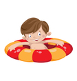 smile swimmer boy vector image vector image