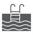 swimming pool glyph icon diving and underwater vector image vector image