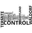 termite control in waldorf maryland text vector image vector image