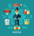 theatre multicolored composition vector image vector image