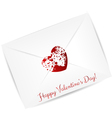 valentine day envelope vector image